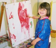 Picture of a child painting