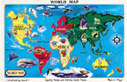 Geography learning colored map of the world