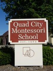 Quad City Montessori School Sign Photo